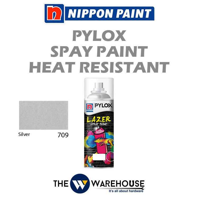 Nippon Pylox Spray Paint Heat Resistant - Silver 709