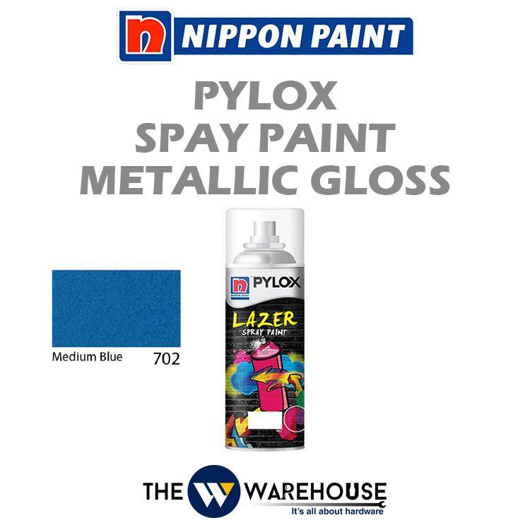 Nippon Pylox Spray Paint Metallic Gloss - Medium Blue 702