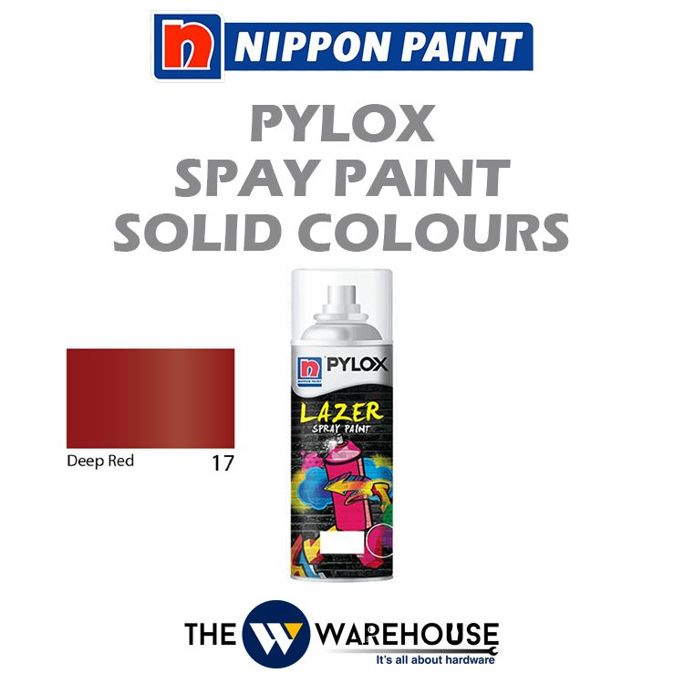 Nippon Pylox Spray Paint Solid Colours - Deep Red 17