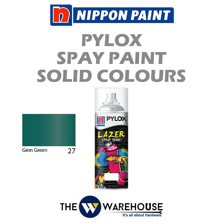 Nippon Pylox Spray Paint Solid Colours - Gem Green 27