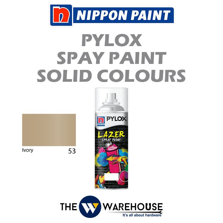 Nippon Pylox Spray Paint Solid Colours - Ivory 53