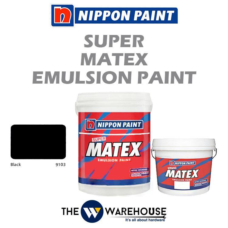 Nippon Super Matex Emulsion Paint - Black 9103