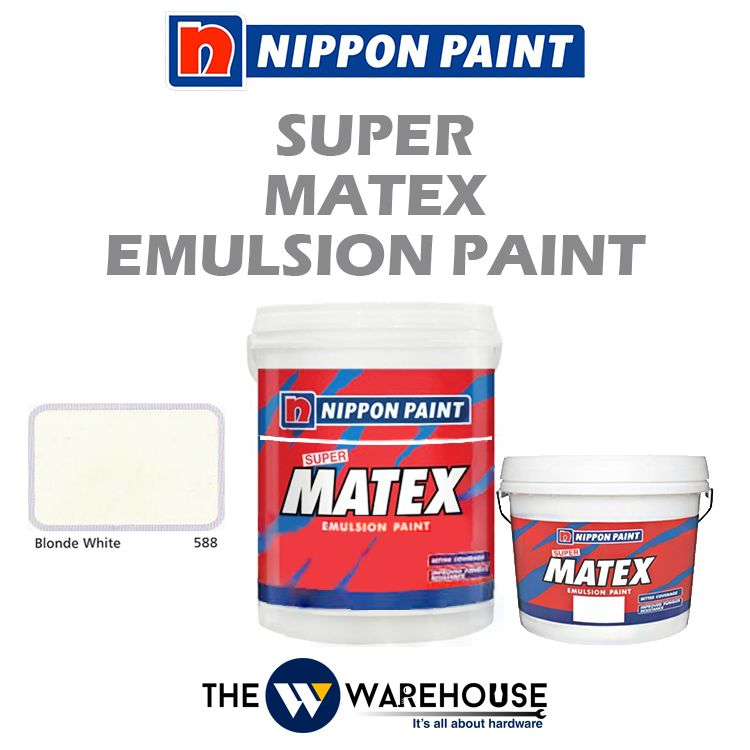 Nippon Super Matex Emulsion Paint - Blonde White 588