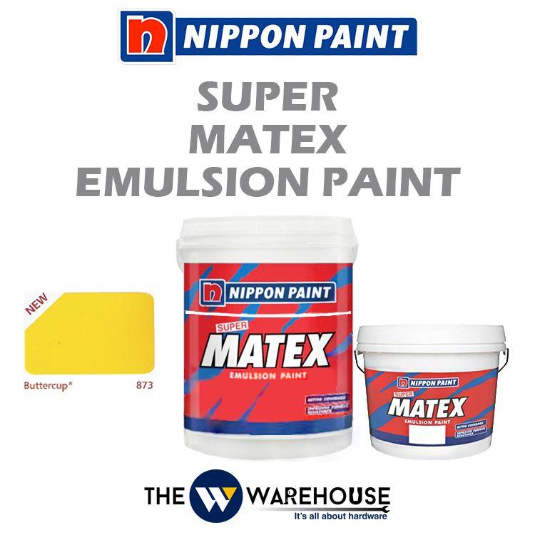 Nippon Super Matex Emulsion Paint - Buttercup 873