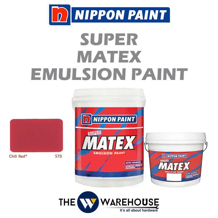 Nippon Super Matex Emulsion Paint - Chili Red 570