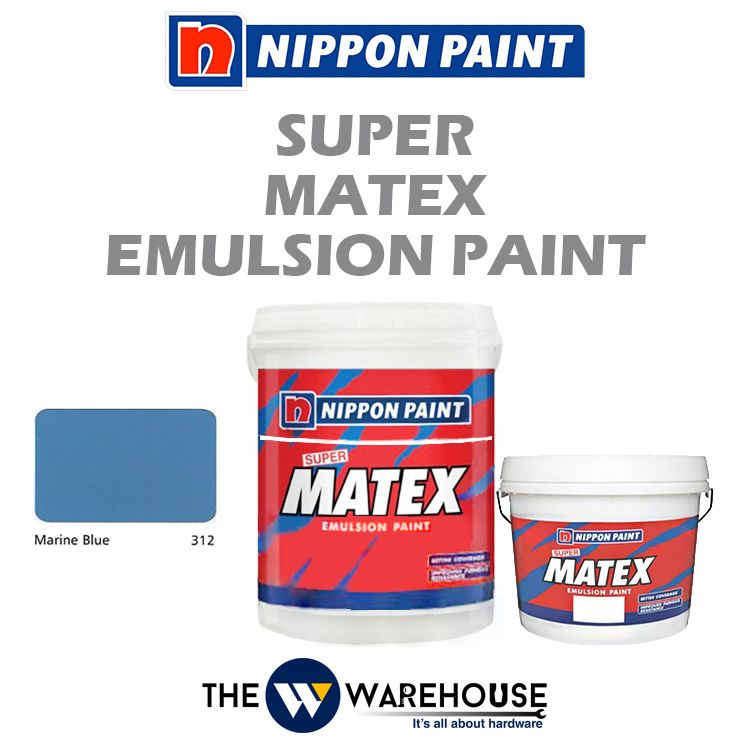 Nippon Super Matex Emulsion Paint - Marine Blue 312