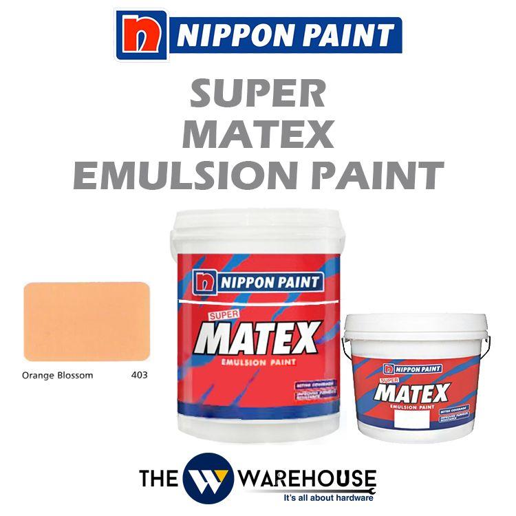 Nippon Super Matex Emulsion Paint - Orange Blossom 403