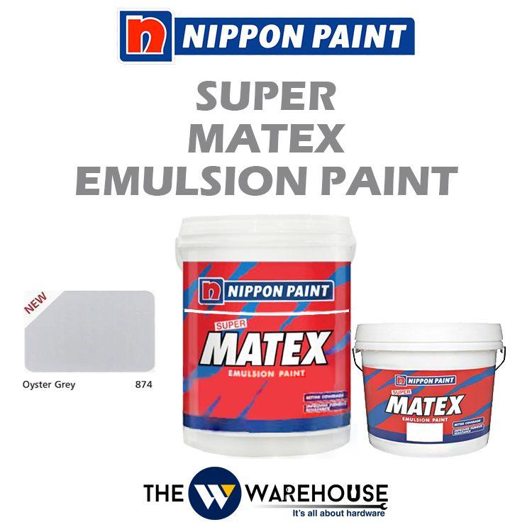 Nippon Super Matex Emulsion Paint - Oyster Grey 874