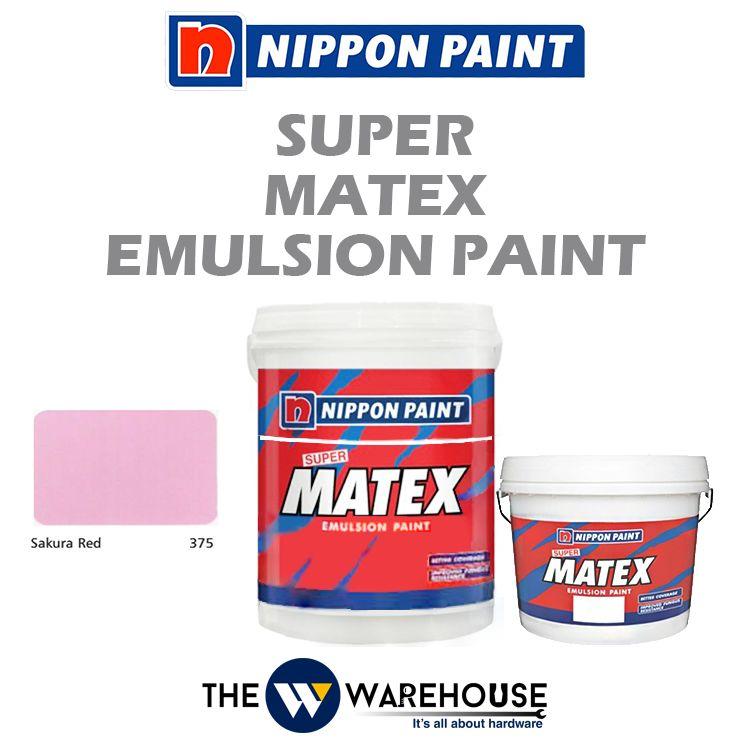 Nippon Super Matex Emulsion Paint - Sakura Red 375