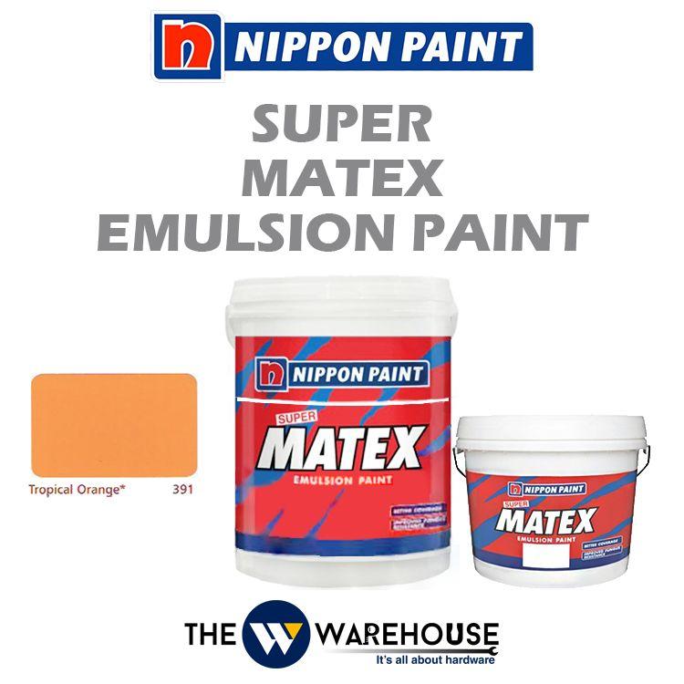 Nippon Super Matex Emulsion Paint - Tropical Orange 391