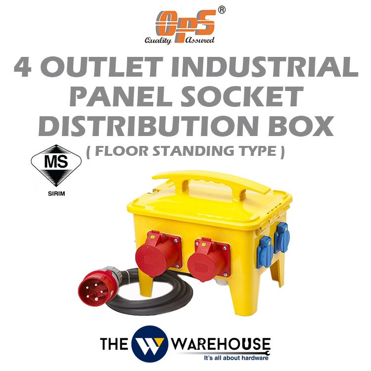 OPS 4 Outlet Industrial Panel Socket Distribution Box - Floor Standing Type