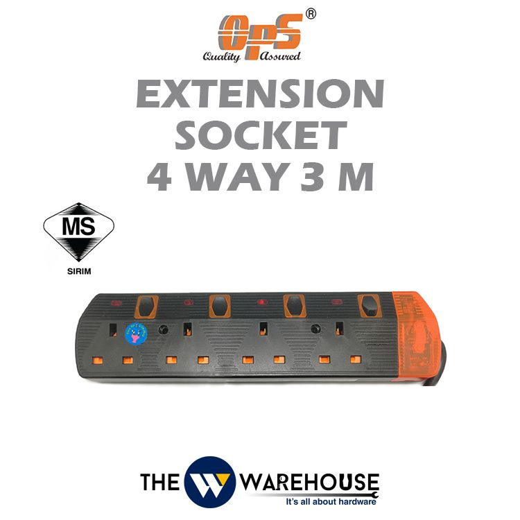 OPS Extension Socket 4 Way 3M