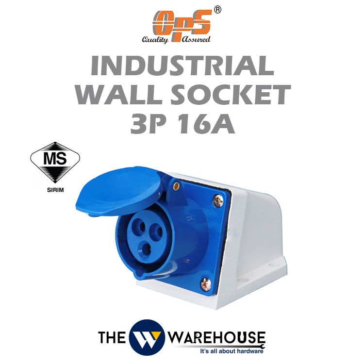 OPS Industrial Wall Socket 3P 16A