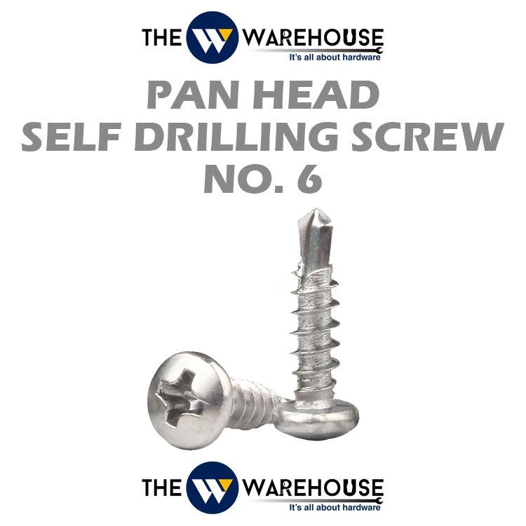 Pan Head Self Drilling Screw #6