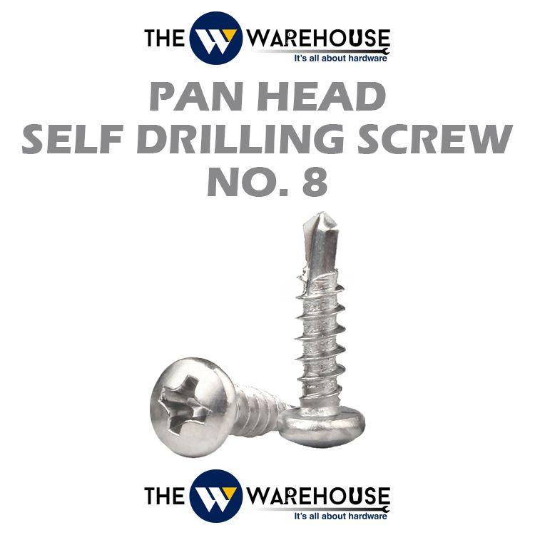 Pan Head Self Drilling Screw #8