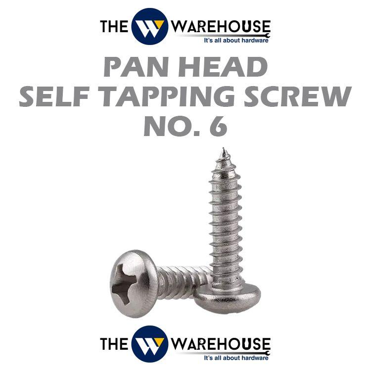 Pan Head Self Tapping Screw #6