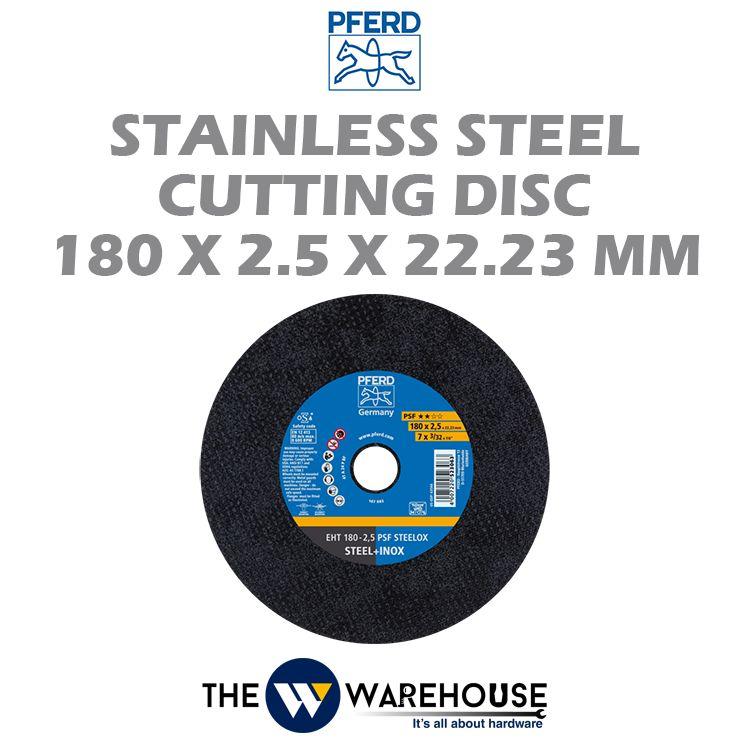 PFERD Stainless Steel Cutting Disc 180mm x 2.5mm