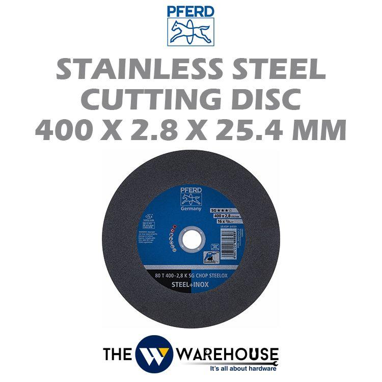 PFERD Stainless Steel Cutting Disc 400mm x 2.8mm