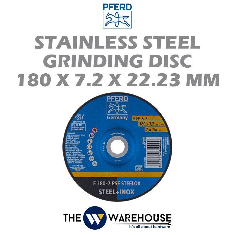 PFERD Stainless Steel Grinding Disc 180mm x 7.2mm