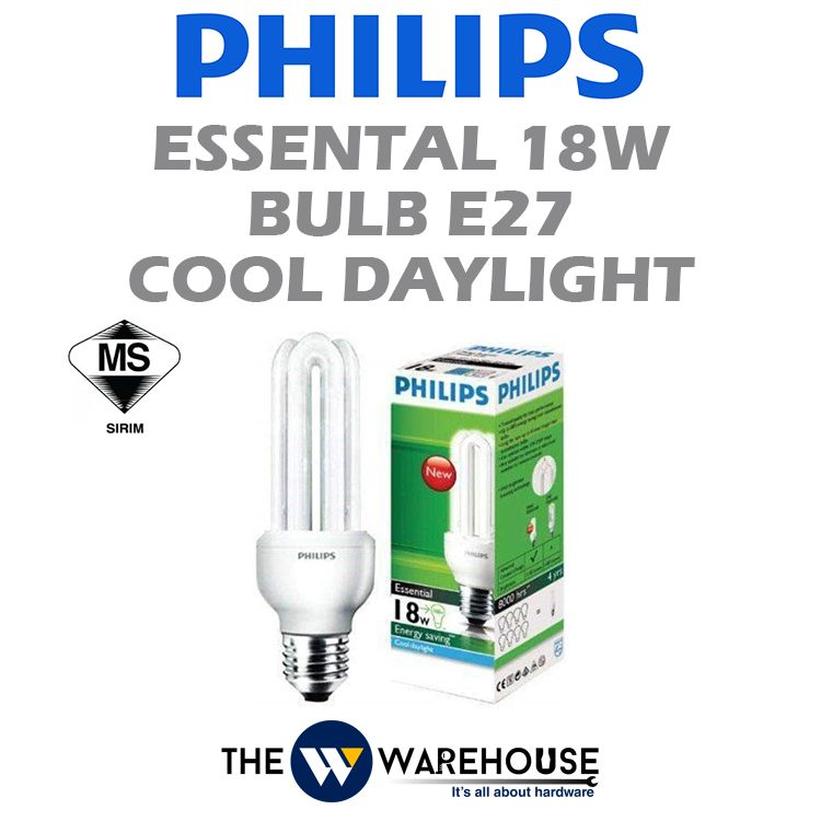 Philips Essental 18w Bulb E27 Cool Daylight