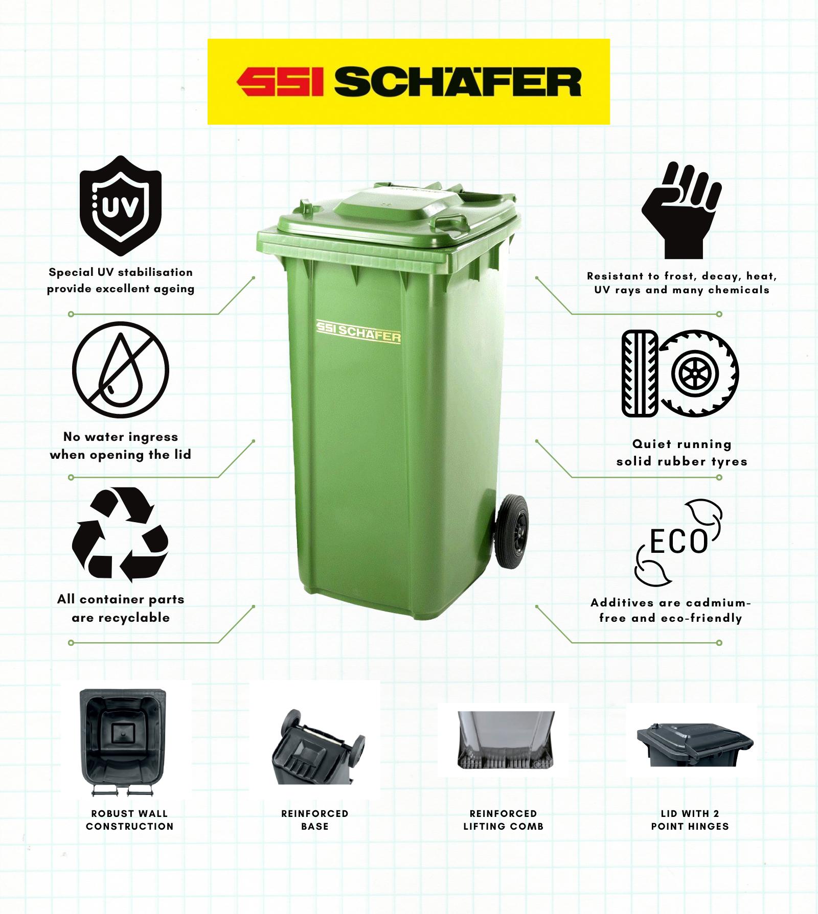 SSI Schafer 2 Wheels Garbage Bin-1