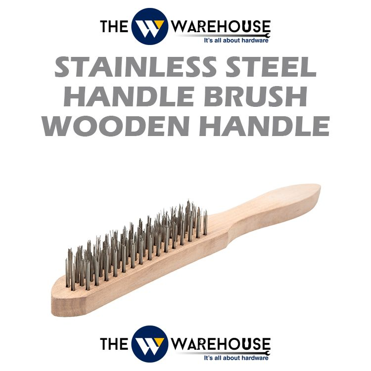 Stainless Steel Handle Brush - wooden handle