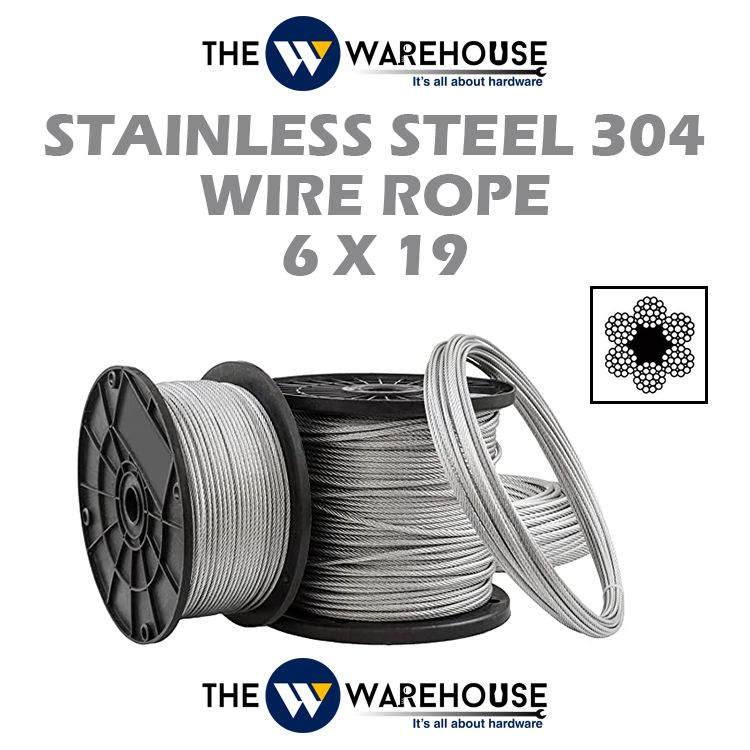 Stanless Steel 304 Wire Rope 6 X 19