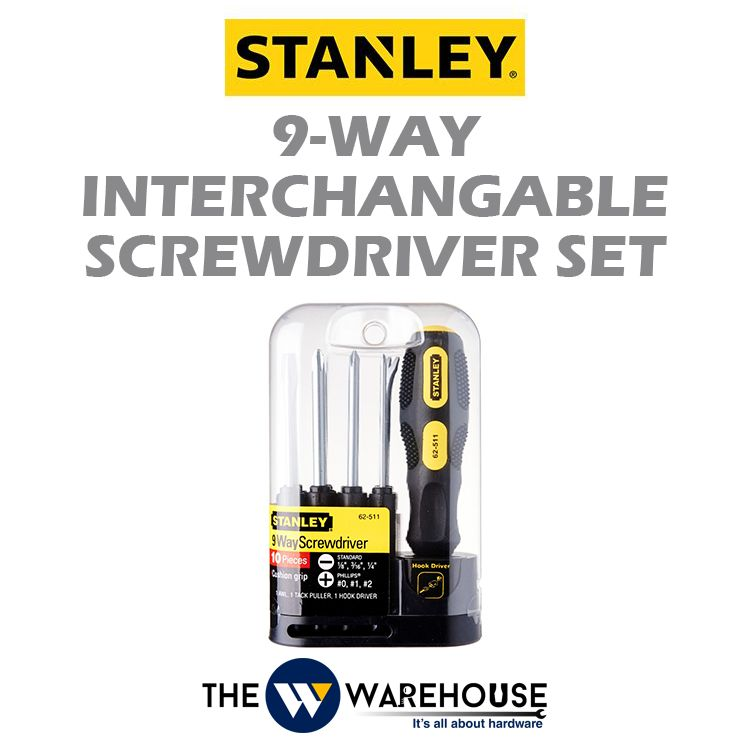 Stanley 9-Way Interchangable Screwdriver Set STHT62511-8