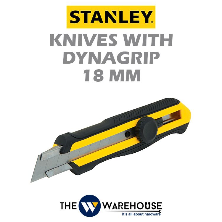 Stanley Knives with Dynagrip 18mm 10-418