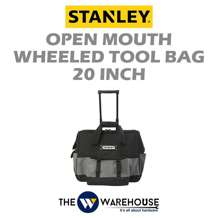 Stanley Open Mouth Wheeled Tool Bag 20inch 93-328