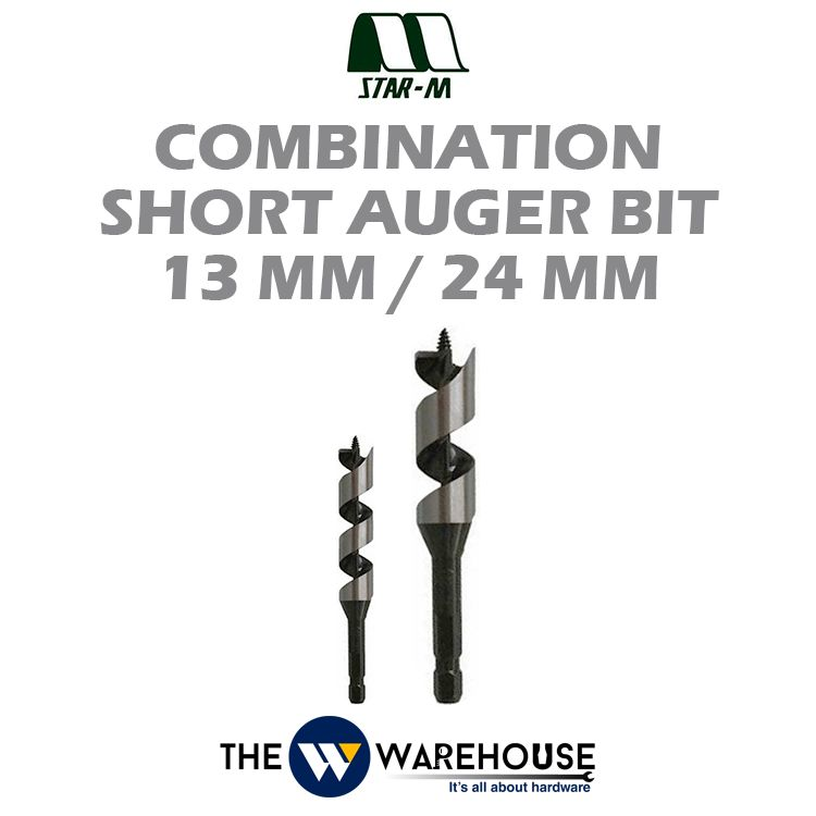 Star-M No.5 Combination Short Auger Bit - 13mm & 24mm