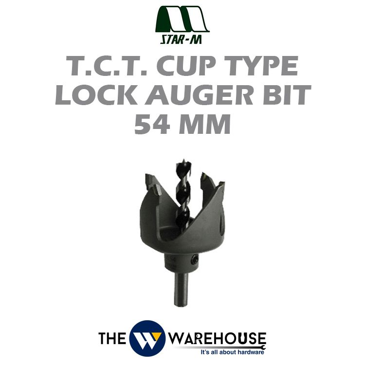 Star-M No.12T T.C.T. Cup Type Lock Auger Bit