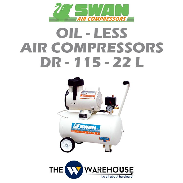 Swan Oil-Less Air Compressors DR-115-22L