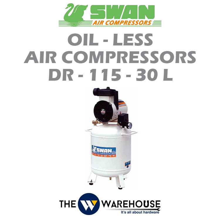 Swan Oil-Less Air Compressors DR-115-30L