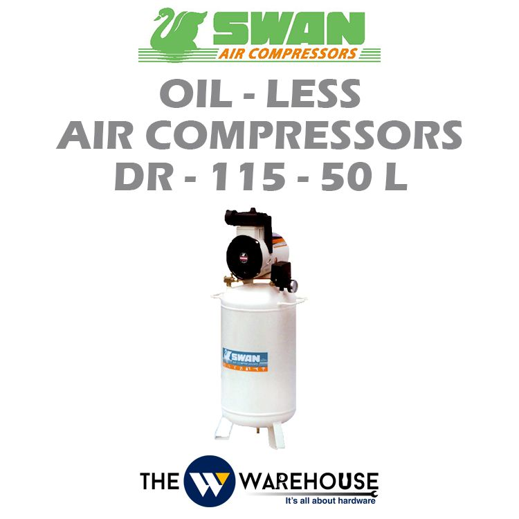 Swan Oil-Less Air Compressors DR-115-50L
