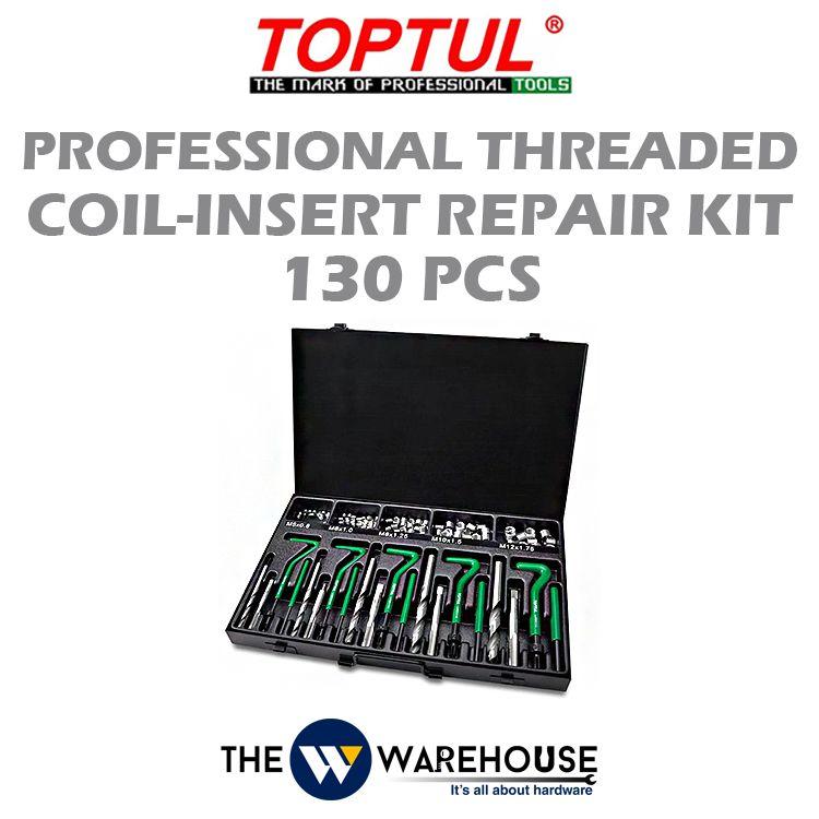 TOPTUL 130pcs Professional Threaded Coil-Insert Repair Kit JGAD130A