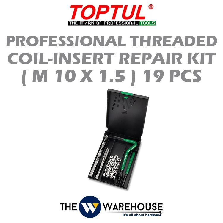 TOPTUL 19pcs Professional Threaded Coil-Insert Repair Kit (M10x1.5) JGEW1901