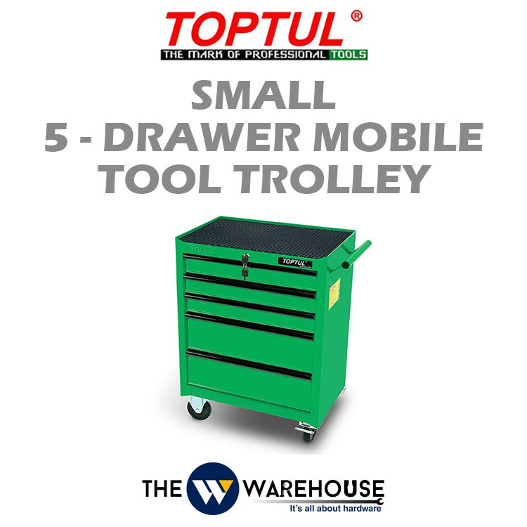TOPTUL Small 5-Drawer Mobile Tool Trolley