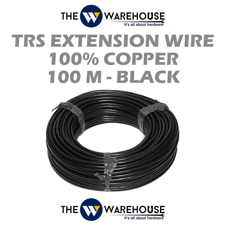 TRS Extension Wire (100% Copper) - Black