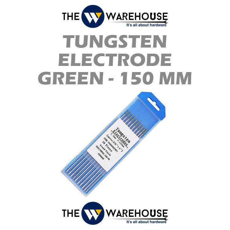 Tungsten Electrode - Green 150mm