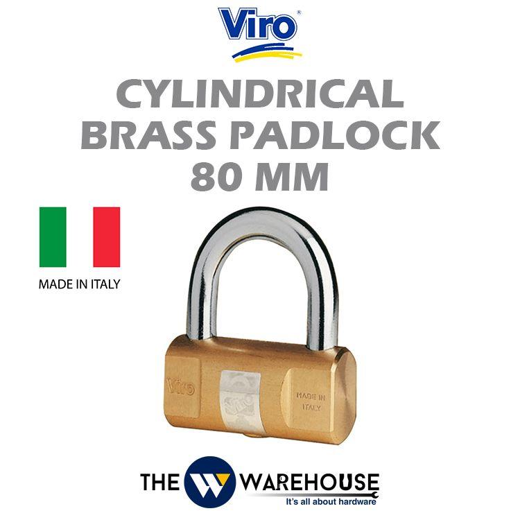 Viro Cylindrical Brass Padlock V105