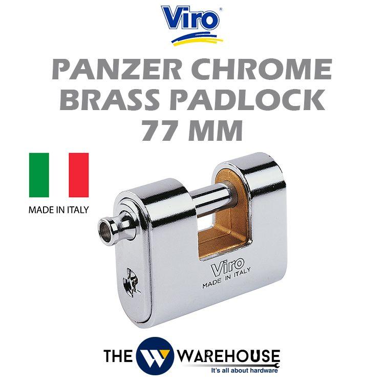 Viro Panzer Chrome Brass Padlock V4116