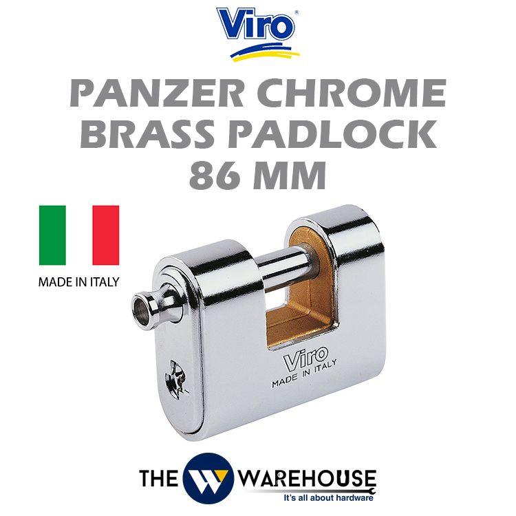 Viro Panzer Chrome Brass Padlock V4117