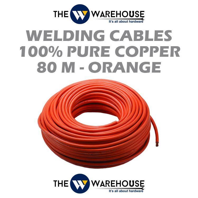 Welding Cable (100% Pure Copper) 80M - Orange