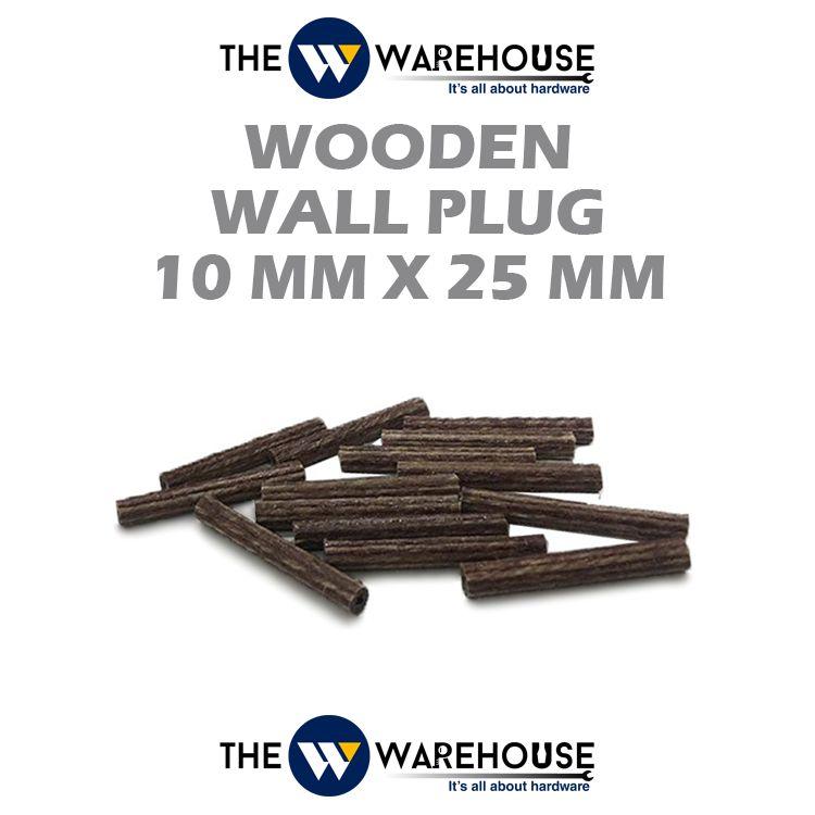 Wooden Wall Plug 10mm x 25mm