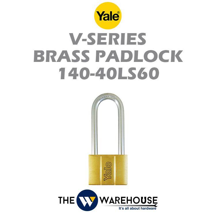 Yale Long Shackle Brass Padlock 140-40LS60