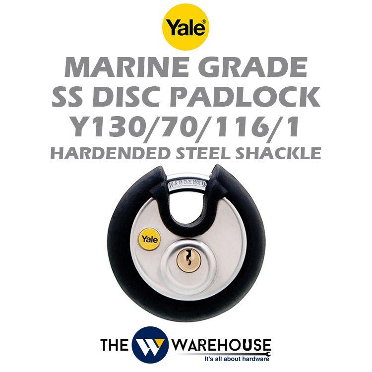 Yale Marine Grade Stainless Steel Disc Padlock Y130/70/116/1