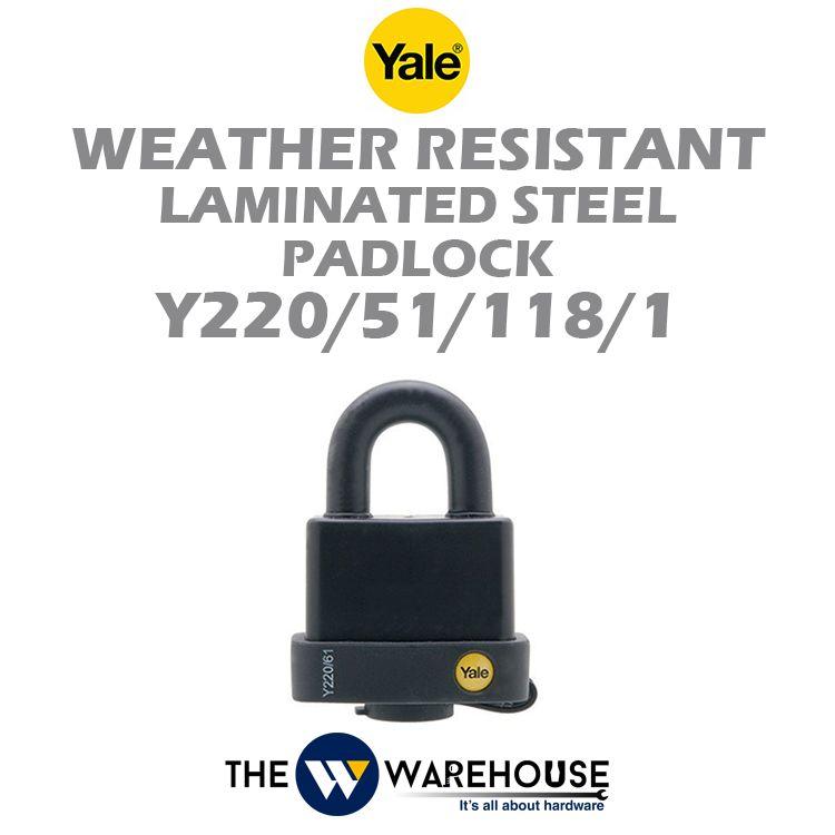 Yale Weather Resistant Laminated Steel Padlock Y220/51/118/1