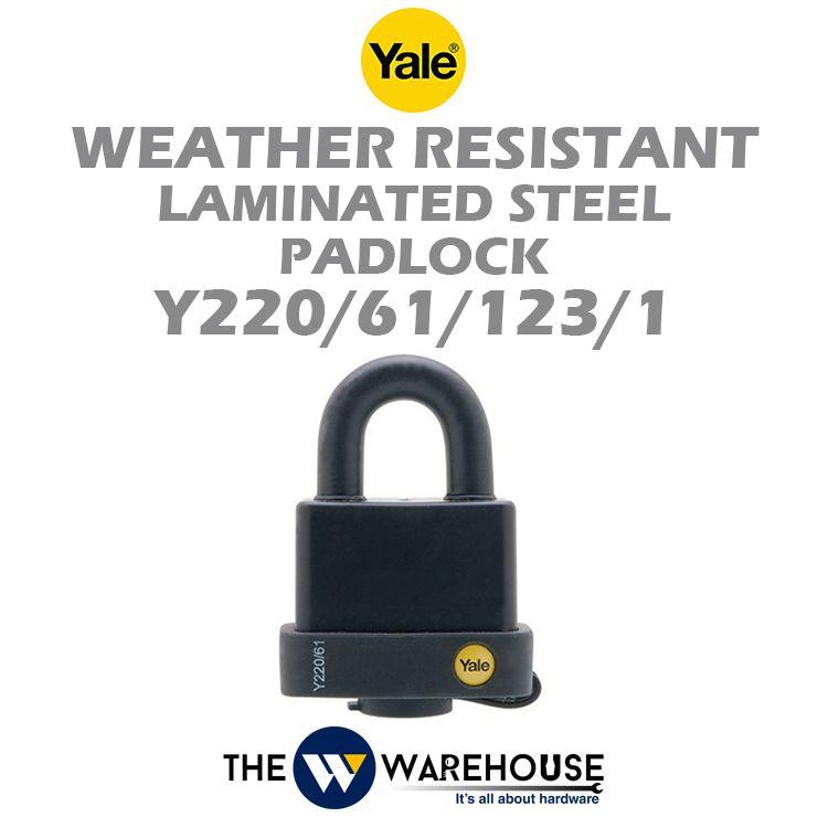 Yale Weather Resistant Laminated Steel Padlock Y220/61/123/1
