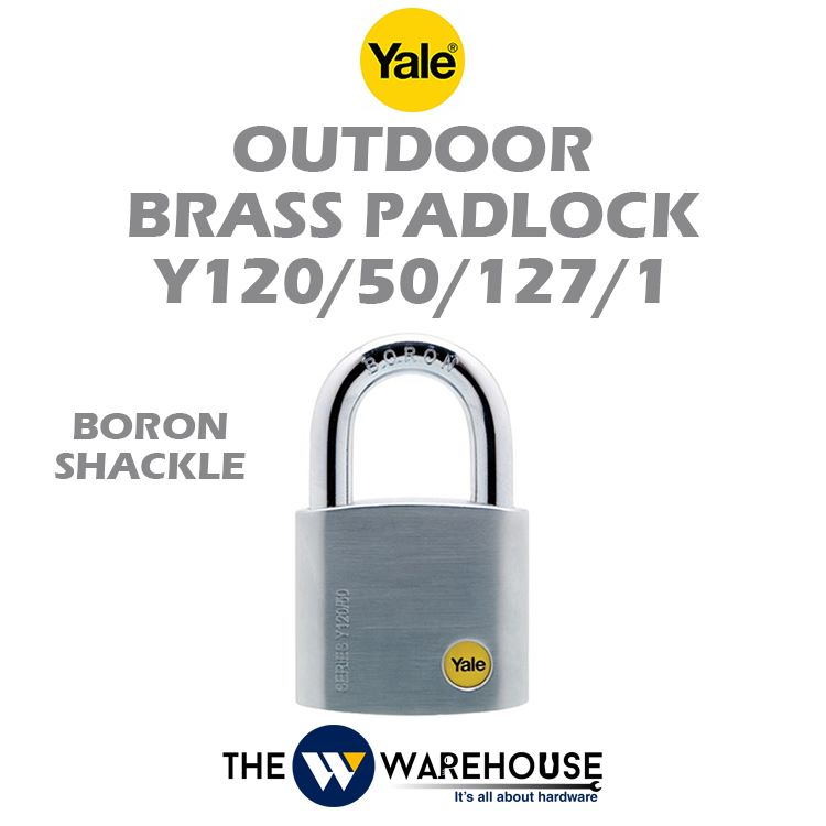 Yale Outdoor Brass Padlock Y120/50/127/1